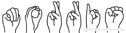 Morris in Fingersprache für Gehörlose