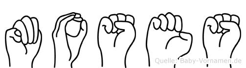 Moses in Fingersprache für Gehörlose
