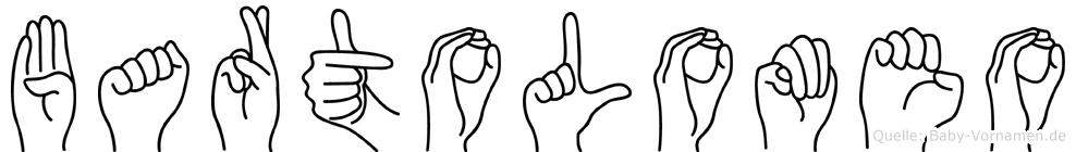 Bartolomeo im Fingeralphabet der Deutschen Gebärdensprache