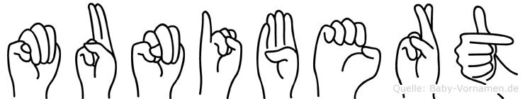 Munibert in Fingersprache für Gehörlose