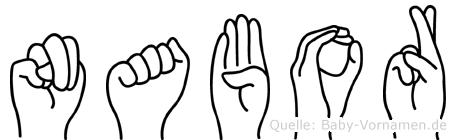 Nabor in Fingersprache für Gehörlose