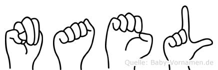Nael im Fingeralphabet der Deutschen Gebärdensprache