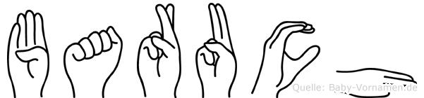 Baruch im Fingeralphabet der Deutschen Gebärdensprache