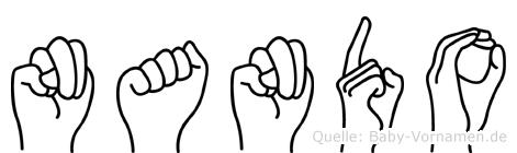 Nando im Fingeralphabet der Deutschen Gebärdensprache