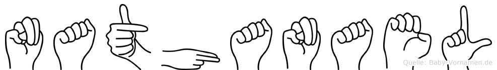 Nathanael in Fingersprache für Gehörlose