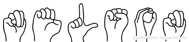 Nelson im Fingeralphabet der Deutschen Gebärdensprache