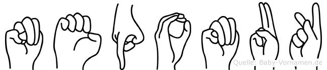 Nepomuk in Fingersprache für Gehörlose