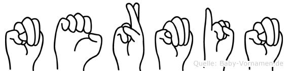 Nermin im Fingeralphabet der Deutschen Gebärdensprache