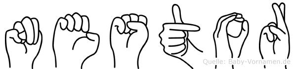 Nestor in Fingersprache für Gehörlose