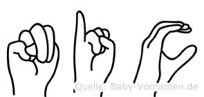 Nic in Fingersprache für Gehörlose