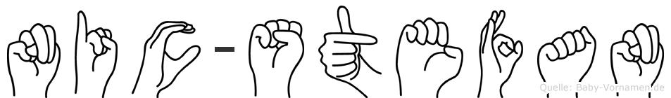 Nic-Stefan im Fingeralphabet der Deutschen Gebärdensprache