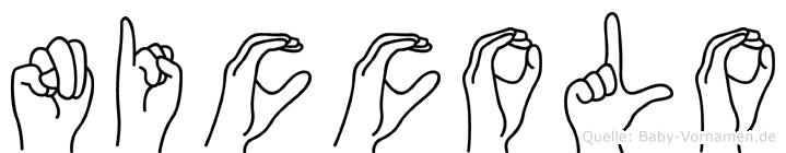 Niccolo im Fingeralphabet der Deutschen Gebärdensprache
