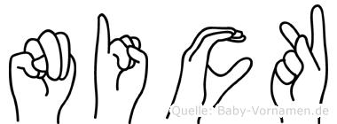 Nick im Fingeralphabet der Deutschen Gebärdensprache