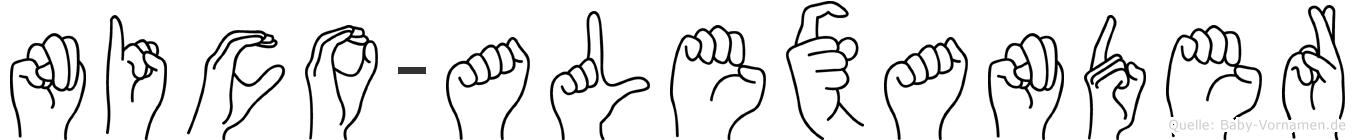 Nico-Alexander im Fingeralphabet der Deutschen Gebärdensprache