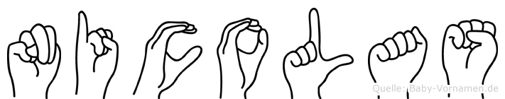 Nicolas in Fingersprache für Gehörlose