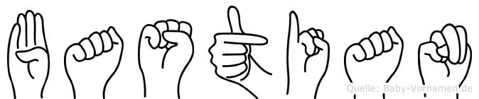 Bastian im Fingeralphabet der Deutschen Gebärdensprache