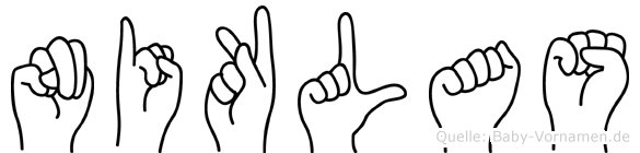 Niklas in Fingersprache für Gehörlose