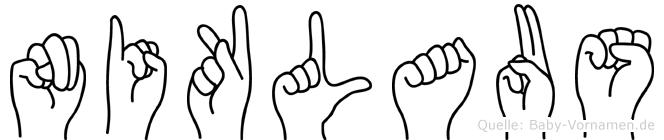 Niklaus im Fingeralphabet der Deutschen Gebärdensprache
