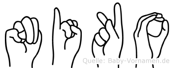 Niko im Fingeralphabet der Deutschen Gebärdensprache