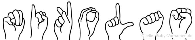 Nikolas in Fingersprache für Gehörlose