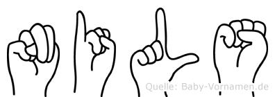 Nils in Fingersprache für Gehörlose