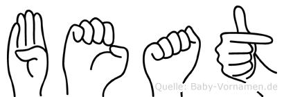Beat in Fingersprache für Gehörlose