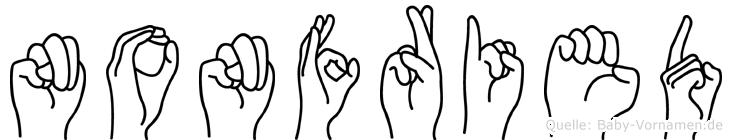 Nonfried in Fingersprache für Gehörlose