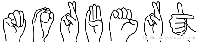 Norbert in Fingersprache für Gehörlose