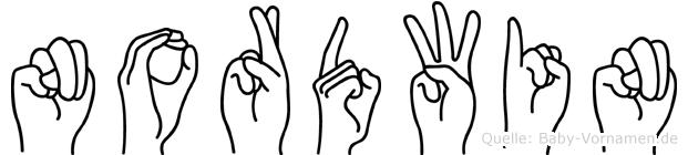 Nordwin in Fingersprache für Gehörlose