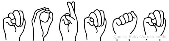Norman im Fingeralphabet der Deutschen Gebärdensprache
