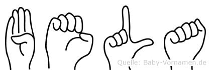 Bela in Fingersprache für Gehörlose
