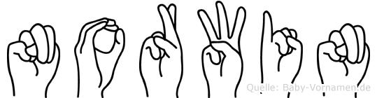 Norwin im Fingeralphabet der Deutschen Gebärdensprache