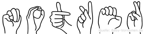 Notker in Fingersprache für Gehörlose