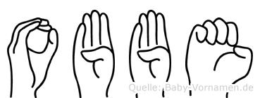 Obbe im Fingeralphabet der Deutschen Gebärdensprache