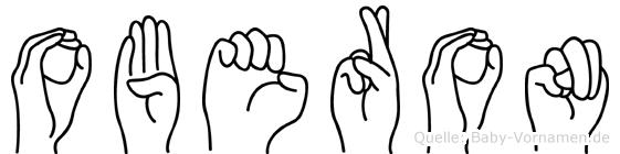 Oberon im Fingeralphabet der Deutschen Gebärdensprache