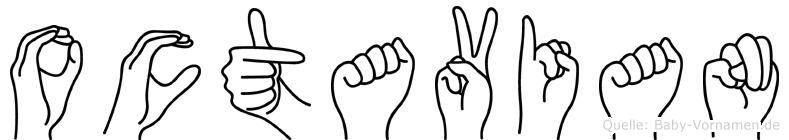 Octavian im Fingeralphabet der Deutschen Gebärdensprache