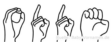 Odde in Fingersprache für Gehörlose