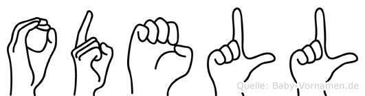 Odell in Fingersprache für Gehörlose