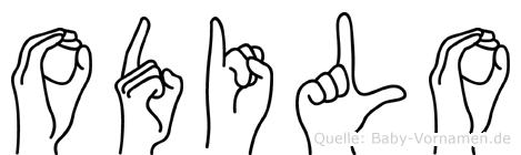 Odilo im Fingeralphabet der Deutschen Gebärdensprache