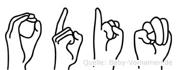 Odin im Fingeralphabet der Deutschen Gebärdensprache
