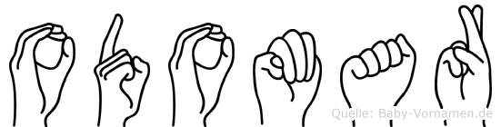 Odomar im Fingeralphabet der Deutschen Gebärdensprache