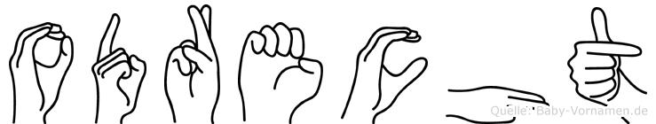 Odrecht in Fingersprache für Gehörlose