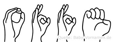 Offe im Fingeralphabet der Deutschen Gebärdensprache