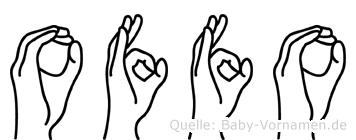 Offo in Fingersprache für Gehörlose