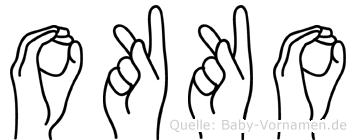 Okko in Fingersprache für Gehörlose