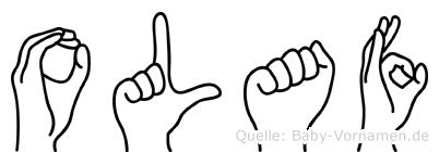 Olaf in Fingersprache für Gehörlose