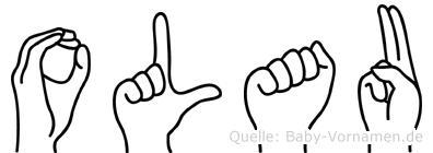 Olau im Fingeralphabet der Deutschen Gebärdensprache