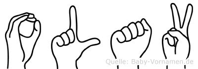 Olav in Fingersprache für Gehörlose