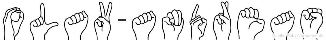 Olav-Andreas im Fingeralphabet der Deutschen Gebärdensprache