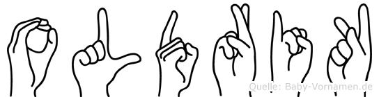 Oldrik in Fingersprache für Gehörlose